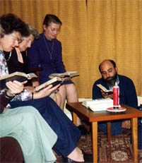A secular institute group at prayer